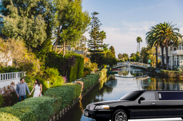 An LA limo by the Venice Canals
